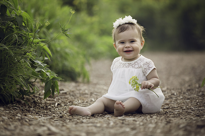 baby girl in the wildflowers