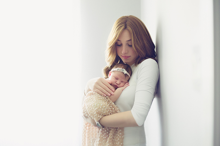 mama and newborn baby girl - Elle Mermelstein Photography